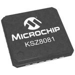 Microchip , 1-Channel Ethernet Transceiver 24-Pin QFN, KSZ8081RNAIA-TR