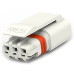 TE Connectivity, SlimSeal Connector Miniature Male 3 Pole 3 Way Miniature, Cable Mount, Rated At 5A, 400 V ac