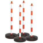 Brady Red & White Barrier, Post Kit includes: Base