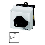 Eaton, DPST 2 Position 90° Changeover Switch, 690 V ac, 20 A, Rotary Knob Actuator