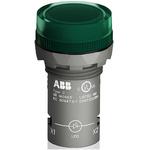 ABB, Panel Mount Green LED Pilot Light, 22mm Cutout, IP66, IP67, IP69K, Round, 230 V ac