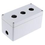 Bopla Light Grey Euromas Push Button Enclosure - 3 Hole 22mm Diameter