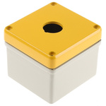Eaton RAL7032 Aluminium M22 Push Button Enclosure - 1 Hole 22mm Diameter