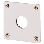 Eaton Brushed Aluminium M22 Push Button Enclosure - 1 Hole 22mm Diameter