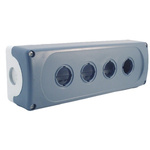 Grey Plastic ABB Modular Push Button Enclosure - 4 Hole 22mm Diameter