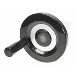 Elesa Black Duroplast Hand Wheel 73720, 125mm