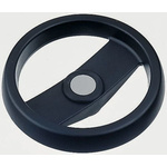 Elesa Black Technopolymer Hand Wheel 78611, 124mm