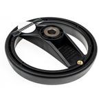Elesa Black Technopolymer Hand Wheel 78721, 160mm