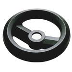 RS PRO Black Glass-Fibre Reinforced Technopolymer Hand Wheel, 100mm