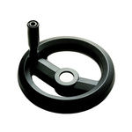 RS PRO Black Glass-Fibre Reinforced Technopolymer Hand Wheel, 126mm
