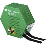 3M Scotchmate™ SJ352D Black Hook & Loop Tape, 25mm x 5m