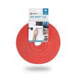VELCRO® One-Wrap VEL-OW64105 Red Hook & Loop Tape, 10mm x 25m