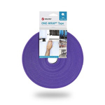 VELCRO® One-Wrap VEL-OW64107 Purple Hook & Loop Tape, 10mm x 25m