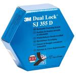 3M Dual Lock™ SJ355D Black Hook & Loop Tape, 25mm x 5m