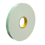3M 4026 White Foam Tape, 25mm x 33m, 1.6mm Thick
