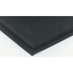 RS PRO Black Rubber Sheet, 1m x 2m x 10mm