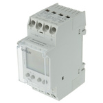 2 Channel Digital DIN Rail Time Switch Measures Hours, Minutes, 110 → 230 V ac