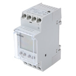 1 Channel Digital DIN Rail Time Switch Measures Hours, Minutes, 110 → 230 V ac