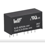 1-Channel, DC-DC DC-DC Converter, Adjustable, 300mA 8-Pin, SIP