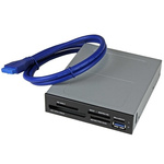 Startech 6 port USB 3.0 Internal Memory Card Reader for Compact Flash Type I, Compact Flash Type II, HC-MMC, HS-Memory