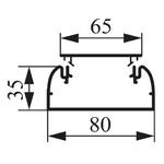 Legrand DLP White Dado Trunking, W80 mm x D35mm, L2m, PVC