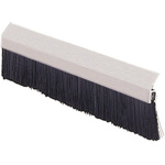 RS PRO Aluminium, Nylon Black Brush Strip, 230mm x 19.1 mm x 13.2mm