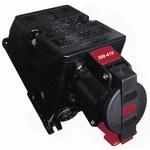 Emerson Network Power Surface Mount 2P+E Industrial Power Socket ATEX, IECEx, Rated At 16.0A, 100-130Vac 50/60Hz
