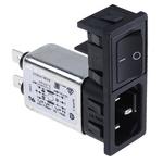 Bulgin,10A,250 V ac Male Snap-In IEC Filter 2 Pole BZM27/A0620/57B 2 Fuse