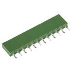 TE Connectivity, AMPMODU HV100 2.54mm Pitch 12 Way 1 Row Straight PCB Socket, Through Hole, Solder Termination
