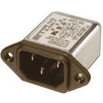 Deltron,6A,250 V ac/dc Male PCB Mount IEC Filter RIX0642H,Tab None Fuse