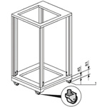 Schroff Castor Castor for use with 19-Inch Cabinet Base