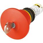 Eaton Panel Mount Emergency Button - Key Reset, 22.5mm Cutout Diameter, NC/NO, Mushroom Head