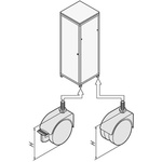 Schroff Castors for use with 19in. Cabinet
