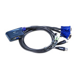 Aten 2 Port USB VGA KVM Switch - 3.5 mm Stereo