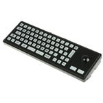 Storm Trackball Keyboard Wired PS/2, USB Compact, QWERTY (UK) Black
