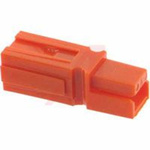 Connector, housing only, orange