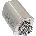 Relay,Hermetically Sealed,3PDT,11 PIN Octal Plug-In,110/125 VDC,10 Amp