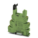 Phoenix Contact 2 Pin Relay Socket, DIN Rail, 120V ac/dc for use with PLC Series