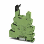 Phoenix Contact 1 Pin Relay Socket, DIN Rail, 120V ac/dc for use with PLC Series