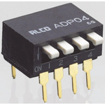 2 Way Through Hole DIP Switch SPST, Piano Actuator