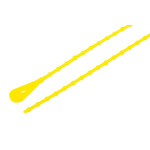 Richco Yellow Cable Tie Polypropylene Releasable, 222.3mm x 2.4 mm