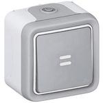 10 A Surface Mount Light Switch, 2 Way, 250 V ac IP55, Plexo