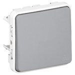 10 A Surface Mount Button Light Switch, 250 V ac IP55, Plexo