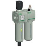 EMERSON – ASCO G 1/4 Filter Regulator Lubricator, Manual, Semi Automatic Drain, 25μm Filtration Size