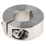 Huco Collar One Piece Clamp Screw, Bore 16mm, OD 34mm, W 13mm, Stainless Steel