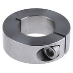 Huco Collar One Piece Clamp Screw, Bore 25mm, OD 45mm, W 15mm, Stainless Steel