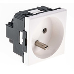 Legrand White 1 Gang Plug Socket, 16A, Type E - French