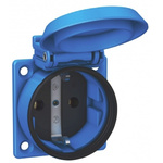ABL Sursum Blue 1 Gang Plug Socket, 16A, Type F - German Schuko