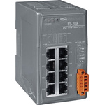 ICP DAS USA Ethernet Switch, 8 RJ45 port DIN Rail Mount