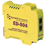 Brainboxes Ethernet Switch, 2 RJ45 port DIN Rail Mount